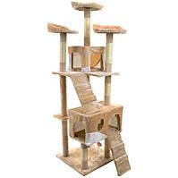 Игровой комплекс для кошек FunFit Chiara 1953 когтеточка, домик, дряпка, фото 1