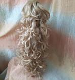 Хвост шиньон кудрявый на крабе пшеничный блонд Т88-24Н613 ELEGANT, фото 2