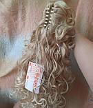 Хвост шиньон кудрявый на крабе пшеничный блонд Т88-24Н613 ELEGANT, фото 3