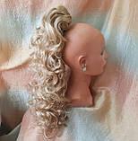 Хвост шиньон кудрявый на крабе пшеничный блонд Т88-24Н613 ELEGANT, фото 5