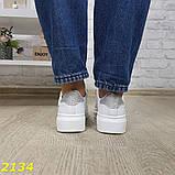 Кроссовки криперы на высокой платформе на липучках макквин белые 36, 38, 39, 41 р. (2134), фото 2
