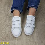 Кроссовки криперы на высокой платформе на липучках макквин белые 36, 38, 39, 41 р. (2134), фото 4