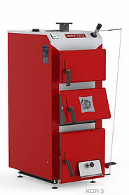 Котел твердотопливный DEFRO KDR 3 30 кВт. красно-серый