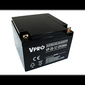 Аккумулятор Volt Polska VPRO 26 Ah 12V AGM VRLA черный (6AKUAGM026)