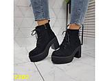Ботинки на низком широком каблуке с платформой 38, 40 р. (2302), фото 6
