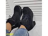 Ботинки на низком широком каблуке с платформой 38, 40 р. (2302), фото 7