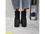 Ботинки на низком широком каблуке с платформой 38, 40 р. (2302), фото 8