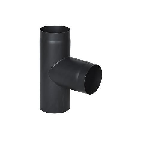 Дымоходный тройник DARCO из стали 130 мм черный