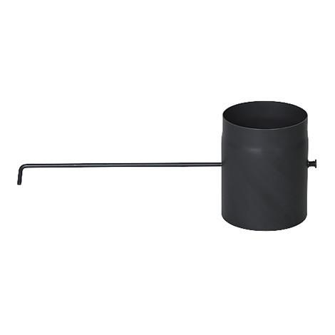Дымоходный шибер DARCO из стали 250 мм черный