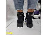Ботинки деми на низком каблуке на шнуровке 36, 39, 41 р. (2308), фото 7
