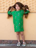 """Детское модное платье """"Птички"""" в расцветках"""