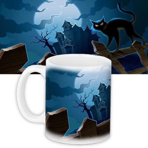 Кружка на Halloween black cat 330 мл (KR_HAL008)