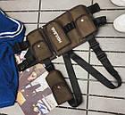 Нагрудная Поясная Сумка Бронежилет Разгрузка City-A Hgul+Bag 4 кармана Коричневый, фото 2
