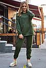 Толстовка з капюшоном жіноча на флісі хакі, фото 3