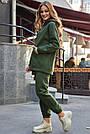 Толстовка з капюшоном жіноча на флісі хакі, фото 4