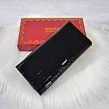 Кошелек Balisa Classic из натуральной кожи под лаком на магнитах черный, фото 2