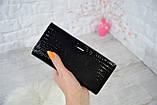 Кошелек Balisa Classic из натуральной кожи под лаком на магнитах черный, фото 3
