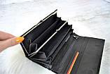 Кошелек Balisa Classic из натуральной кожи под лаком на магнитах черный, фото 4