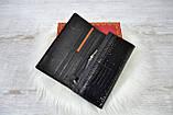 Кошелек Balisa Classic из натуральной кожи под лаком на магнитах черный, фото 7