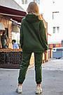 Толстовка з капюшоном жіноча на флісі хакі, фото 7