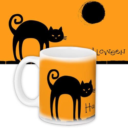 Кружка на Halloween cat 330 мл (KR_HAL004)