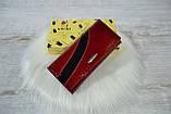 Кошелек Kochi из натуральной кожи под лаком красно-черный женский, фото 3
