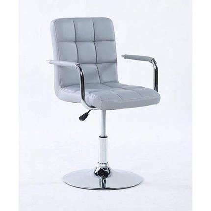 Парикмахерское кресло косметологическое косметическое крісло косметичне перукарське Hoker серое, фото 2