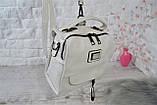 Сумка-рюкзак Компакт городская белая женская, фото 4