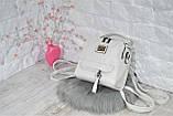 Сумка-рюкзак Компакт городская белая женская, фото 8