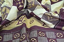 Простынь на резинке с дизайном Луи Виттон 90х200х20, фото 3