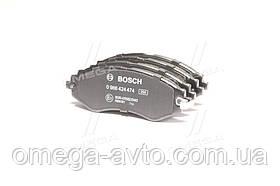 Колодки тормозные DAEWOO LANOS 1.6 16V, NUBIRA, передние (пр-во Bosch) 0 986 424 474