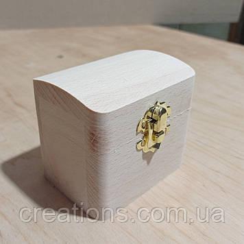 Дерев'яна заготовка для декупажу скринька 8х6 см з оксамитом