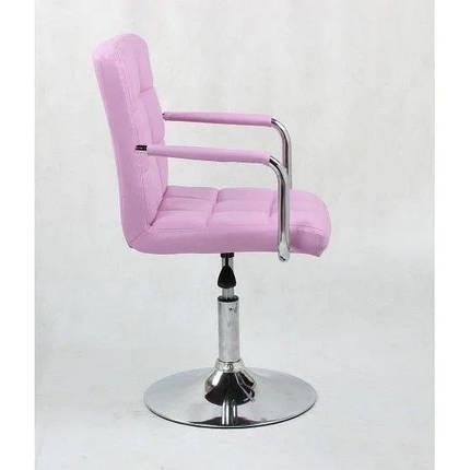 Парикмахерское кресло косметологическое косметическое крісло косметичне перукарське Hoker розовое, фото 2