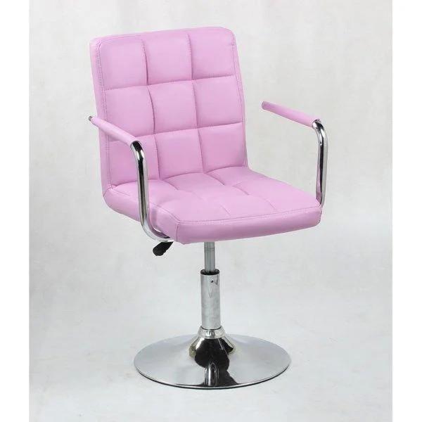 Парикмахерское кресло косметологическое косметическое крісло косметичне перукарське Hoker розовое