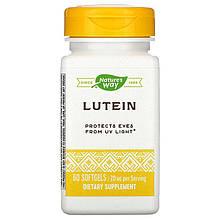 """Лютеїн nature's Way """"Lutein"""" для поліпшення зору, 20 мг (60 капсул)"""