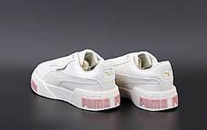 Женские кроссовки Puma Cali. Pink/White. ТОП реплика ААА класса., фото 3