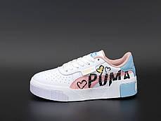 Жіночі кросівки Puma Cali. Pink. ТОП репліка ААА класу., фото 3