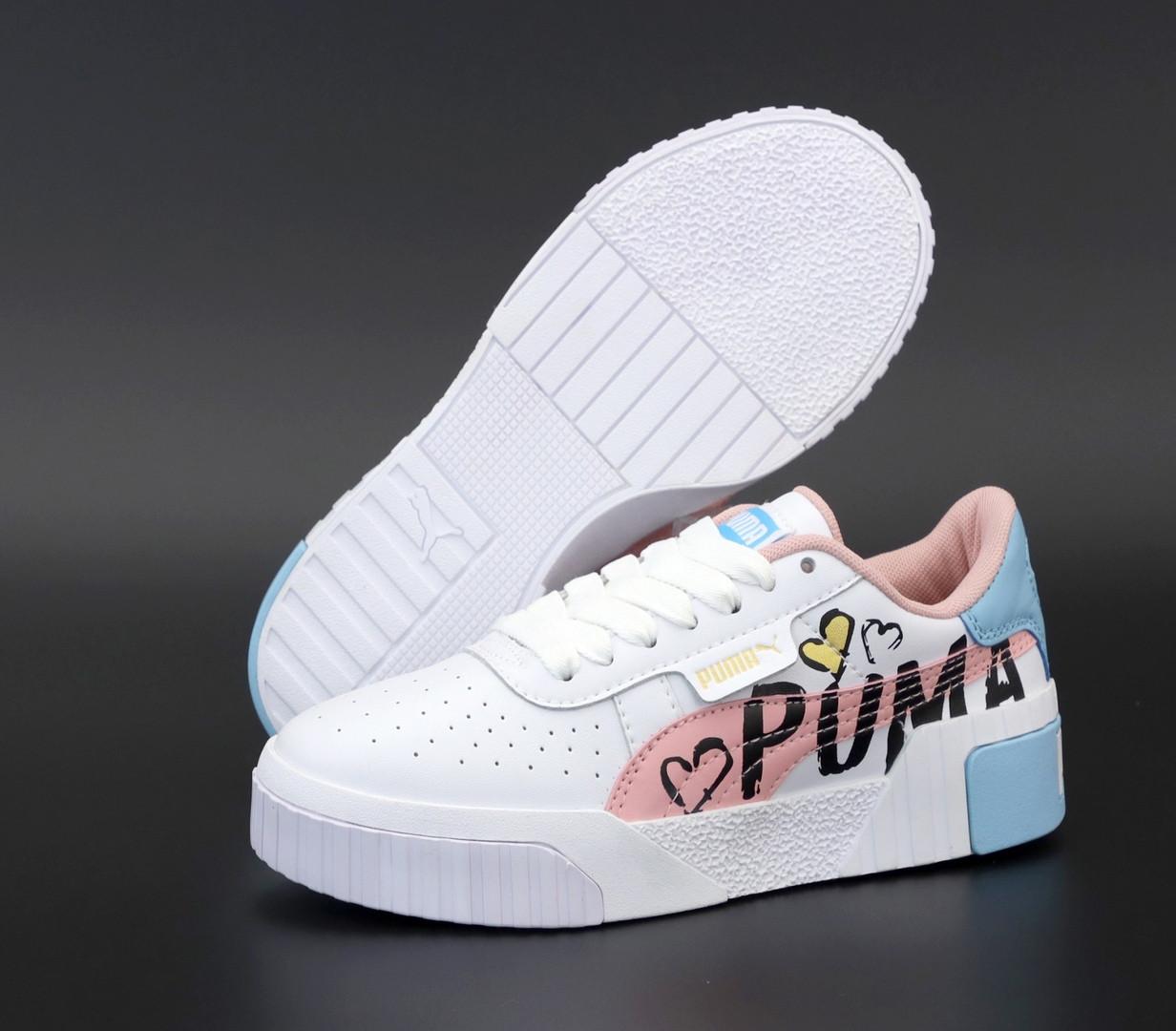 Жіночі кросівки Puma Cali. Pink. ТОП репліка ААА класу.