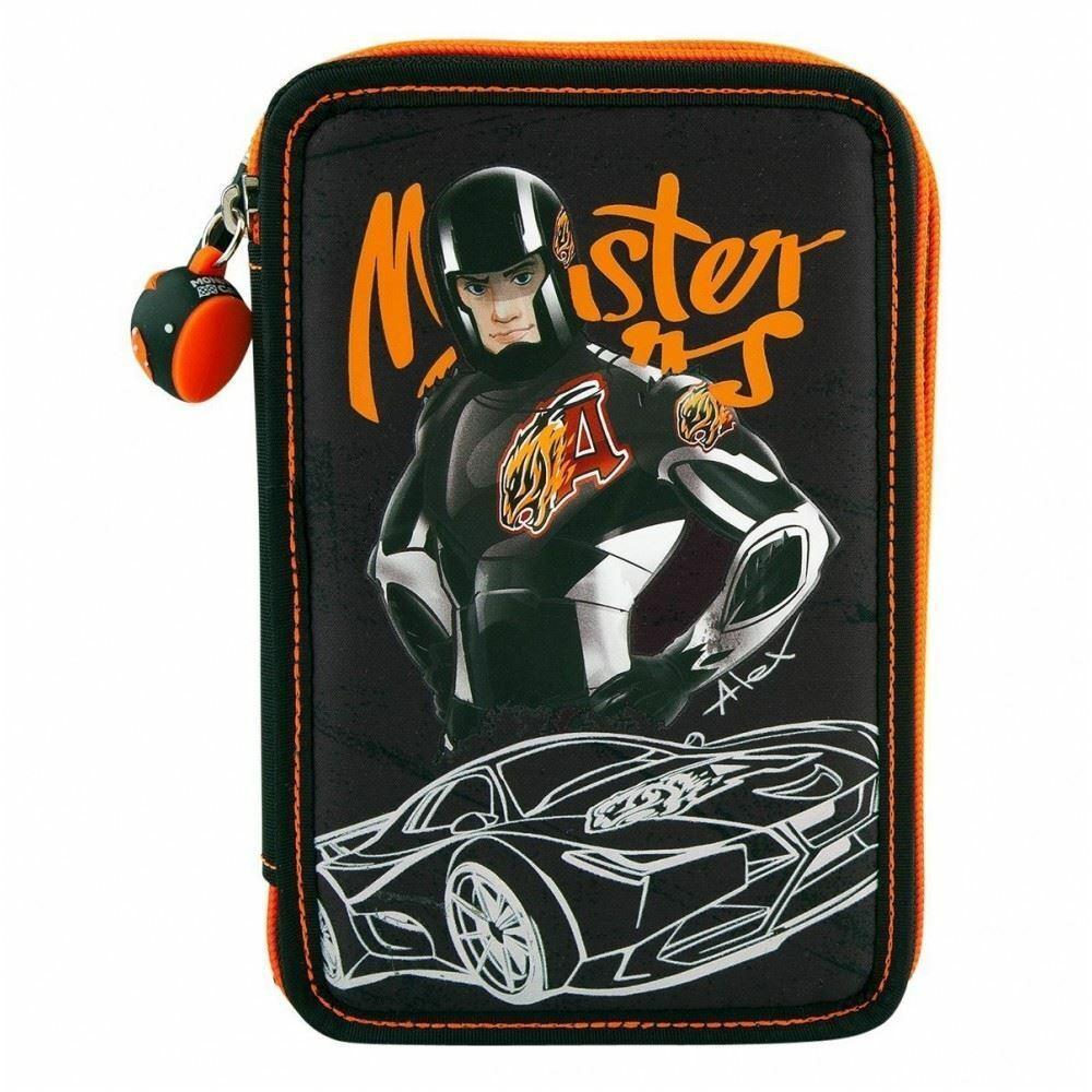 Monster Cars пенал з наповненням Alex (Пенал тройной с наполнением от ТОП Модел для мальчика 6528_A)