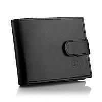 Кожаный мужской кошелёк Betlewski с защитой RFID BPM-DZ-63 черный