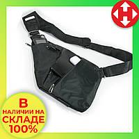 Сумка через плечо, кроссбоди, crossbody, сумка слинг, Черная. Это качественная, кросс боди сумка, фото 1