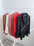 Костюм брючный женский чёрный, красный, белый, капучино, фрезовый, фото 6