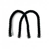 Ручки для сумки-конструктора канаты короткие 45 см - черные