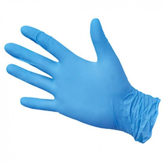 Перчатки нитриловые синего цвета 200шт/уп. (100пар)