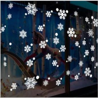Набор новогодних наклеек -  Снежинки   (100х50см)