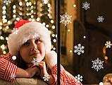 Набор новогодних наклеек -  Снежинки   (100х50см), фото 2