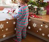 Набор новогодних наклеек -  Снежинки   (100х50см), фото 5