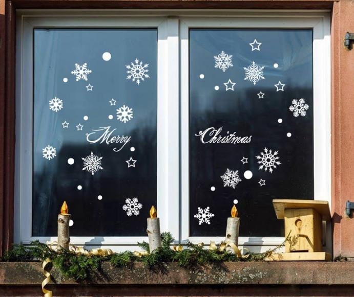 Інтер'єрна новорічна наклейка - Merry Christmas (80х60см)