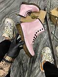 Женские ботинки Dr. Martens 1460 Pink, ботинки доктор мартенс, жіночі черевики Dr Martens, ботінки мартінс, фото 2
