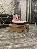 Женские ботинки Dr. Martens 1460 Pink, ботинки доктор мартенс, жіночі черевики Dr Martens, ботінки мартінс, фото 8